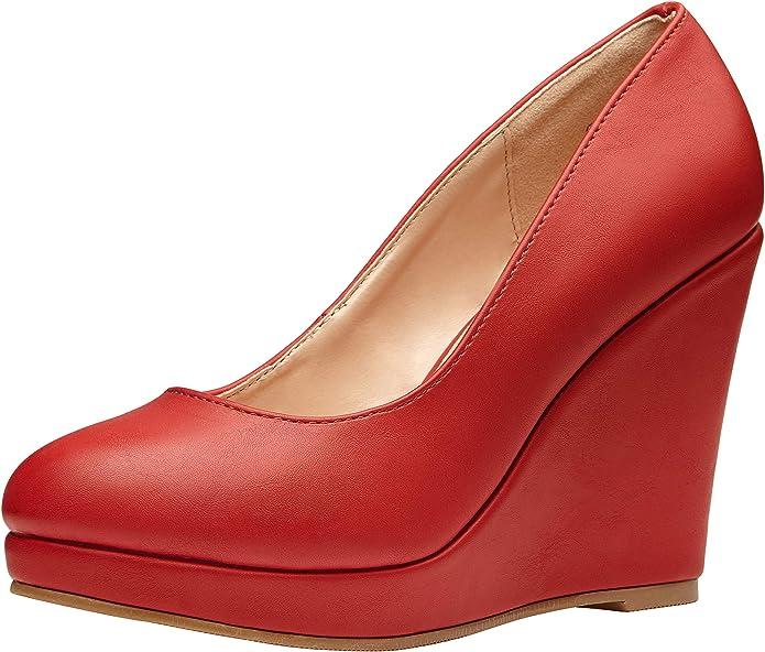 VEPOSE Women's Vintage Wedges Heels