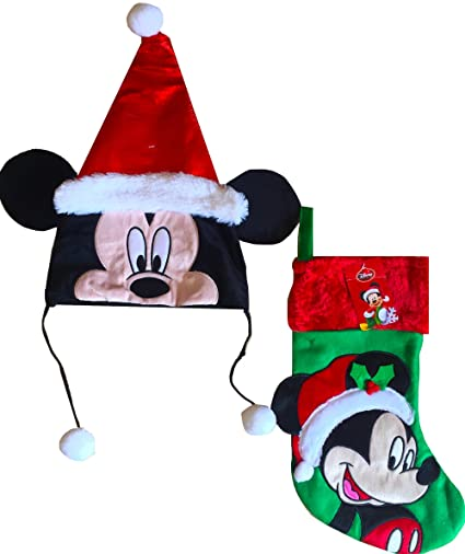 9b21e52499d44 Image Unavailable. Image not available for. Color  Mickey Mouse Christmas  Santa Hat with ...
