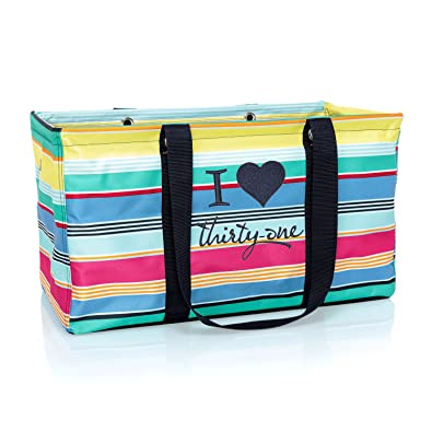 9dd0107c0865 Thirty One Large Utility Tote in Patio Pop - No Monogram - 3121
