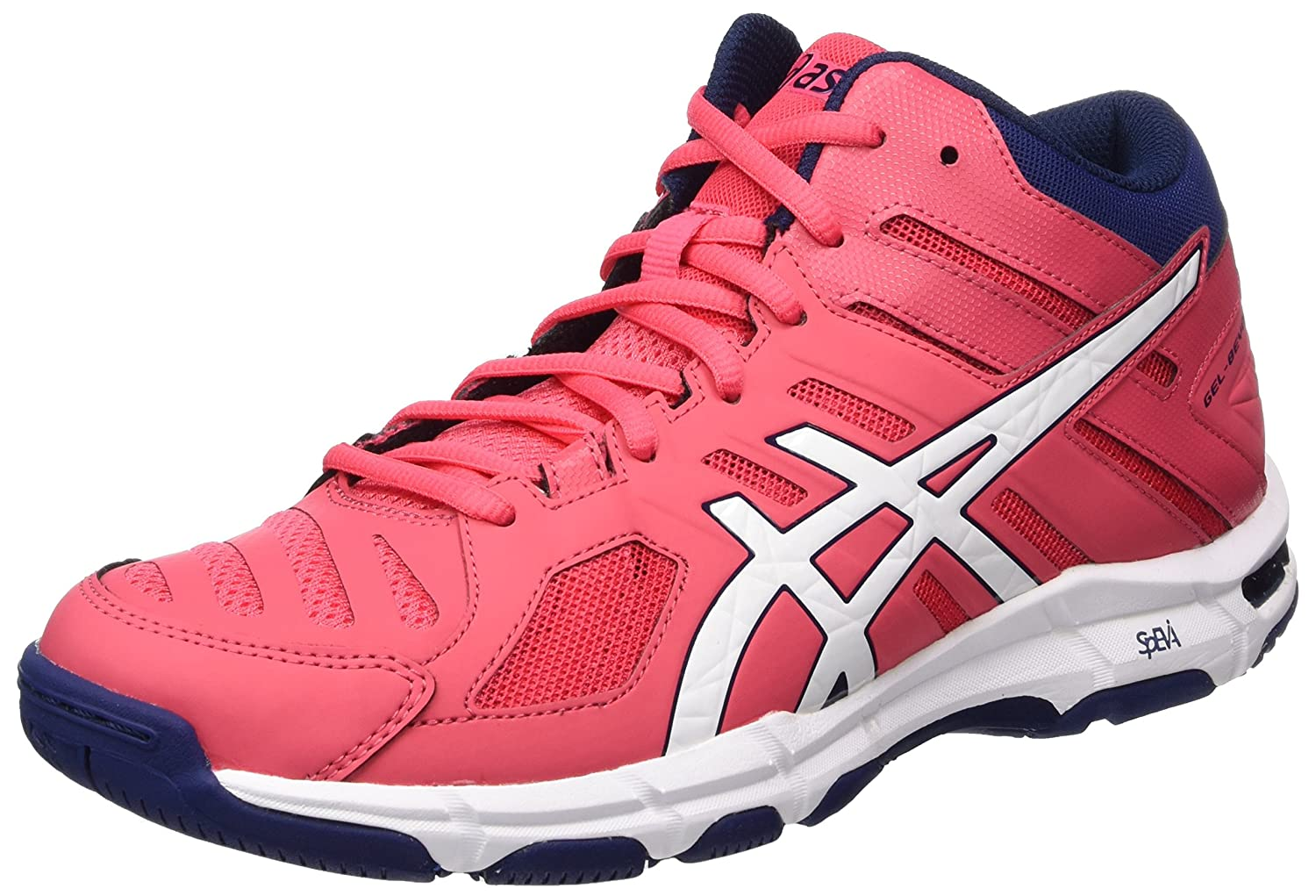 Asics Women S Gel Beyond 5 Mt Volleyball Shoes Red Rouge Red White Indigo Blue 8 Uk Amazon Co Uk Shoes Bags