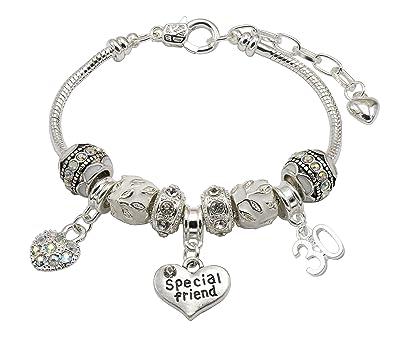 30th Birthday Charm Bracelet Women's cjCQ3ejoiY