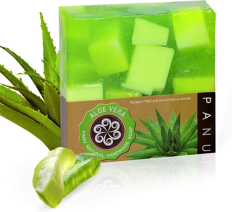 Panu Jabon Natural - Aloe Vera Champu Solido - jabones para regalar (2x 110g)