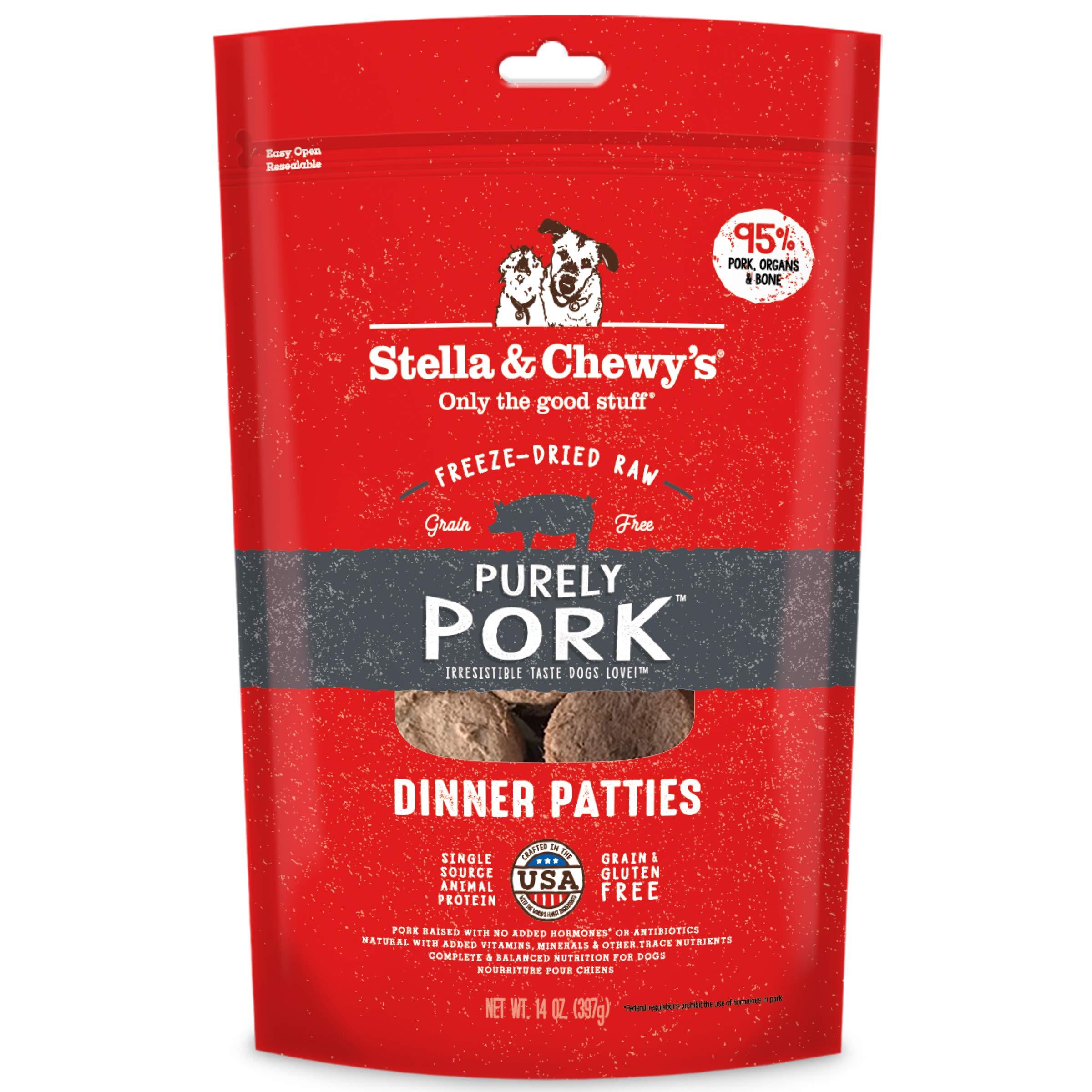 Stella & Chewy's Freeze-Dried Raw Purely Pork Dinner Patties Dog Food, 14 oz. Bag by Stella & Chewy's
