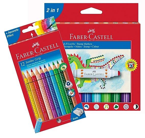 Faber-Castell 10051187b lápices de Colores Jumbo Grip 12 ...