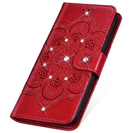 coque samsung a40 rouge a strass