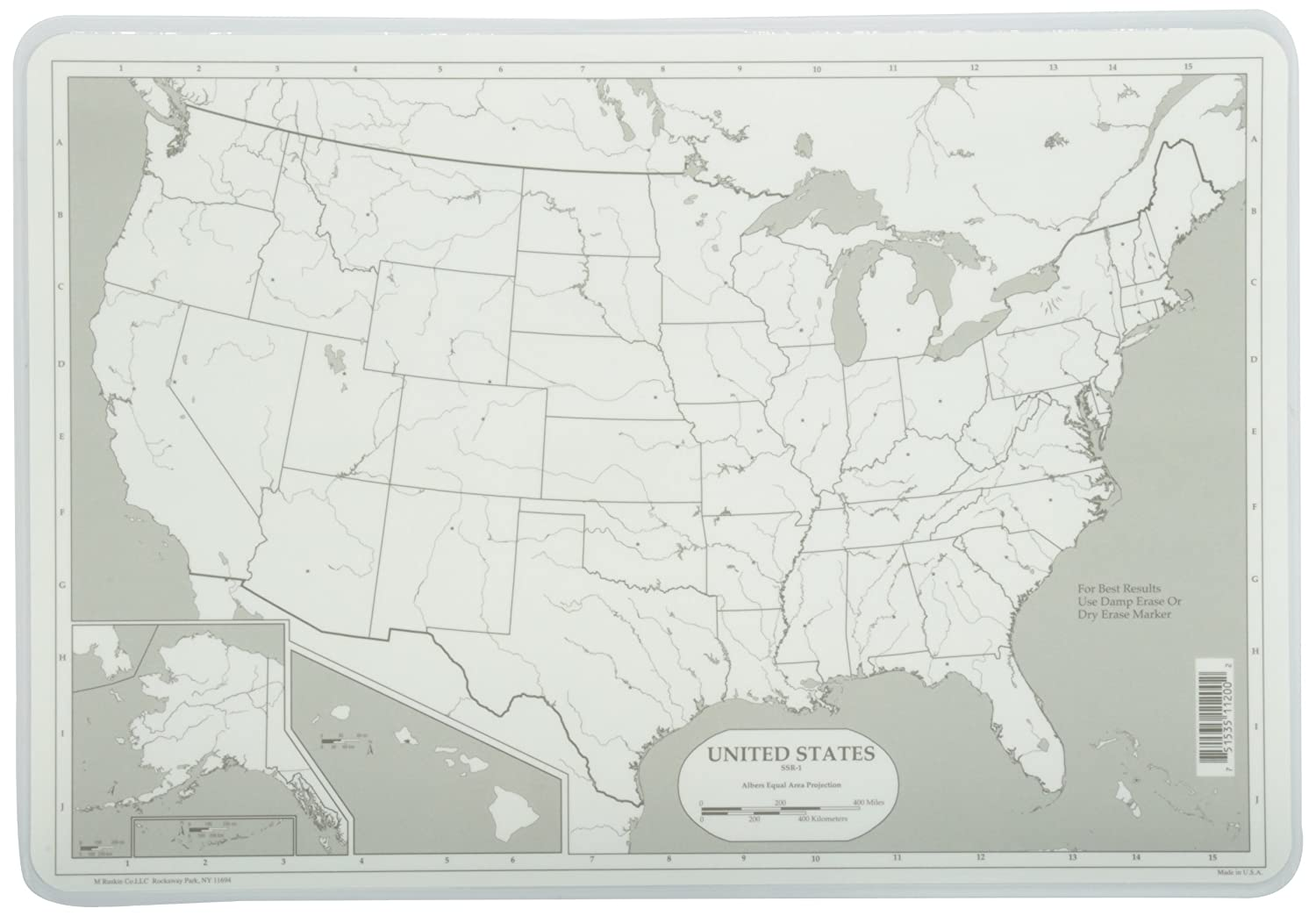 Amazoncom Painless Learning Map Of USA Placemat Home Kitchen - Us photo map mat