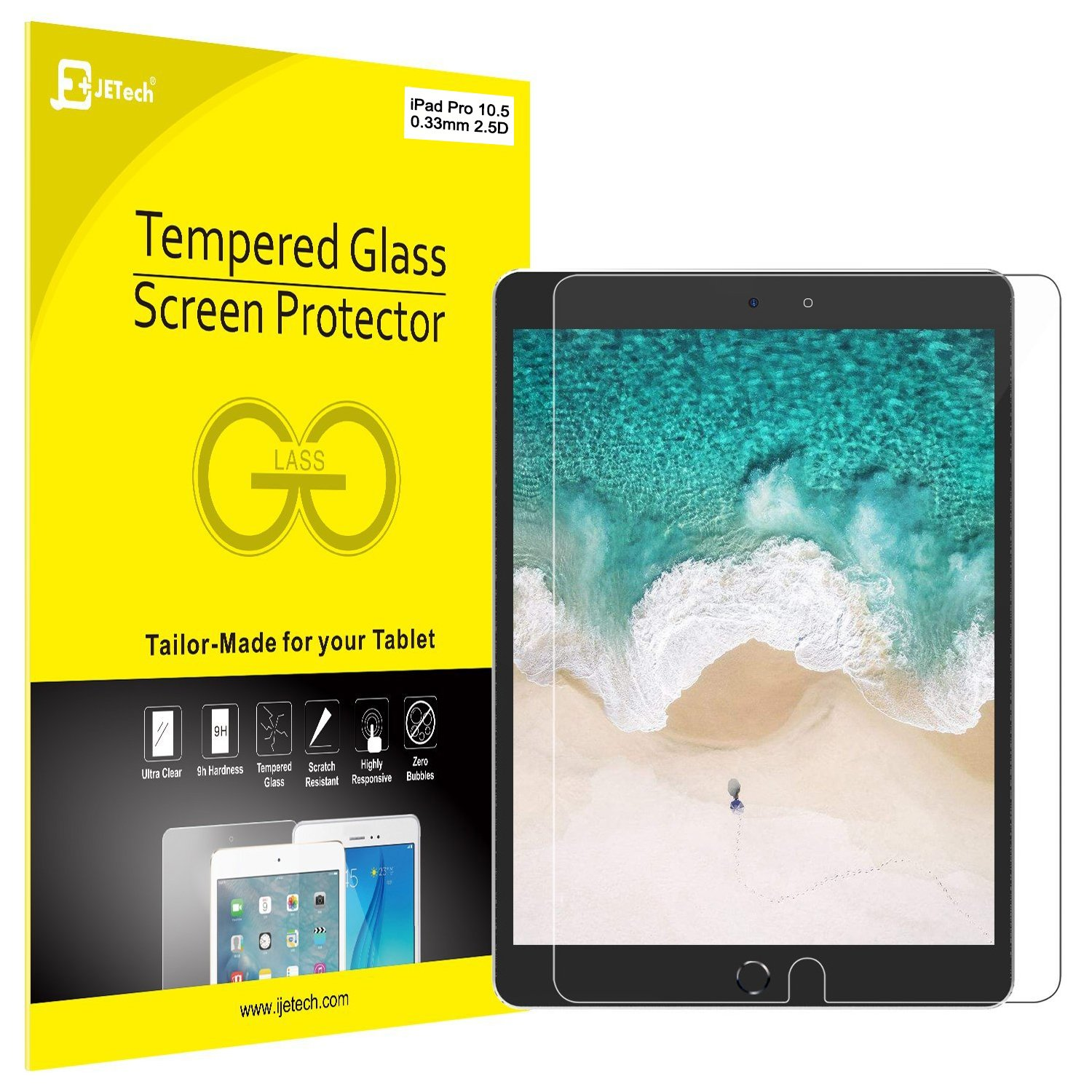 Surface pencil compatible tempered glass screen protector with 2 5d - Ipad Pro 10 5 Screen Protector Jetech Tempered Glass Screen Protector Film For The New Apple 10 5 Inch Ipad Pro 2017 Amazon Ca Electronics