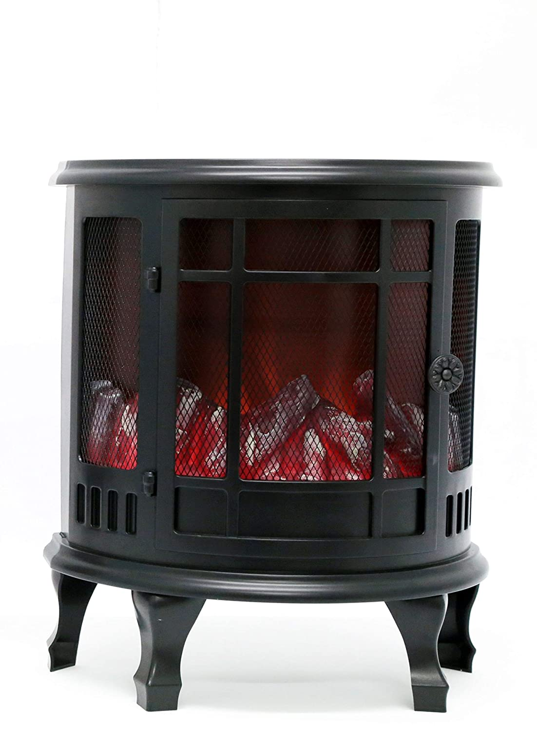 Plastic 35cm Flameless Flickering LED Log Burner Fireplace Decoration SIL