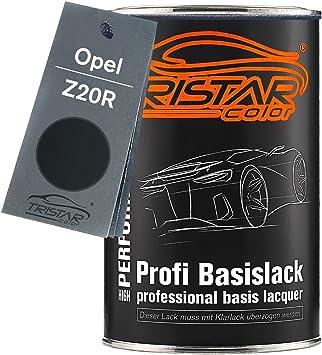 Tristarcolor Autolack Dose Spritzfertig Für Opel Z20r Saphirschwarz Metallic Black Sapphire Metallic Basislack 1 0 Liter 1000ml Auto