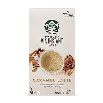 Amazon Starbucks VIA Instant Caramel Latte 1 Box Of 5 Packets
