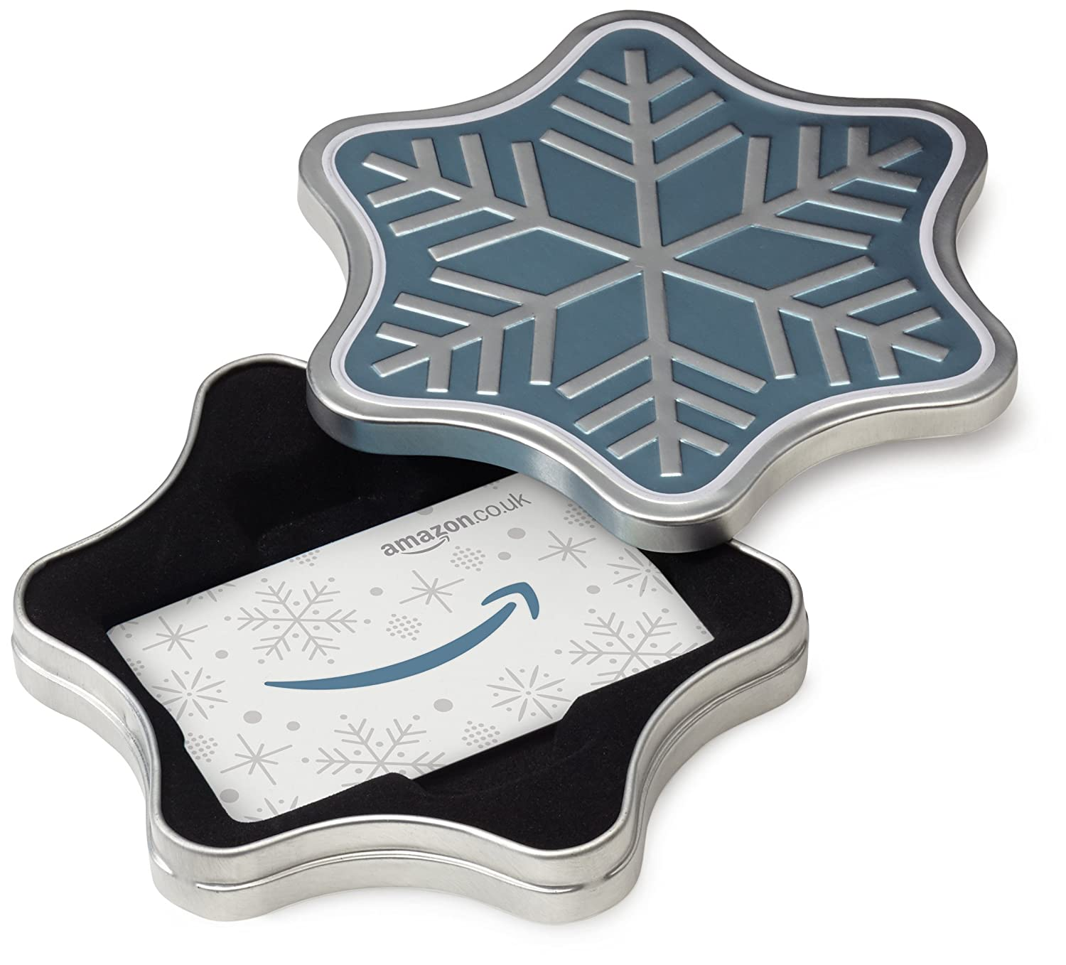 Amazon.co.uk Gift Card for Custom Amount in a Snowflake Tin - FREE One-Day Delivery Amazon EU S.à.r.l. VariableDenomination
