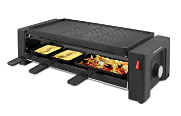 Suntec Wellness RAC-8625 Turbo Plancha para Pizza y raclette, Negro: Amazon.es: Hogar