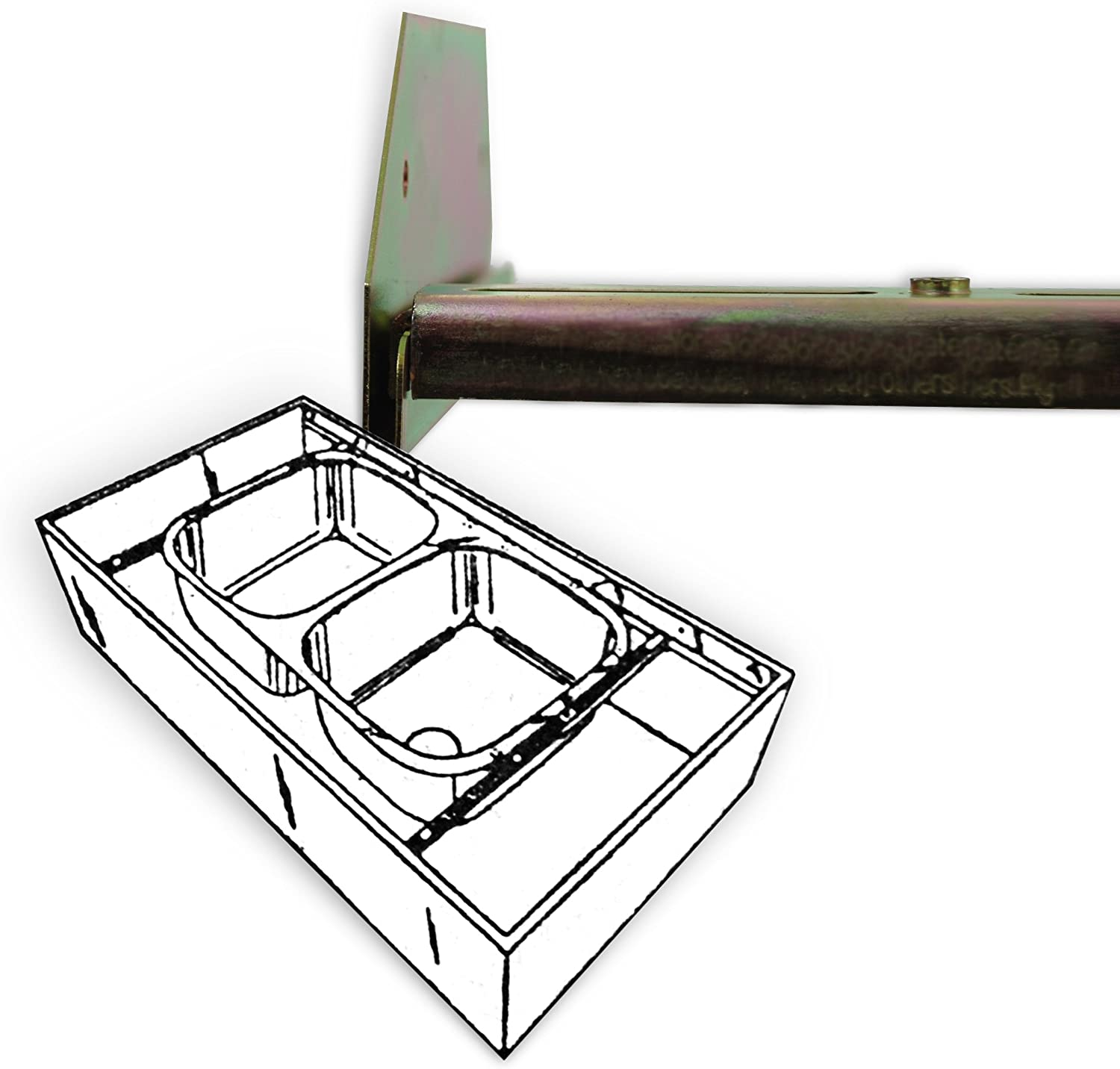 """Sink Setter PW-114-P Offset Side to Side installations 25"""" to 47"""""""