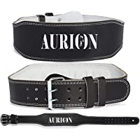 Aurion Genuine Leather Weight Lifting Belt Body Fitness Gym Back Support Power Lifting Belt
