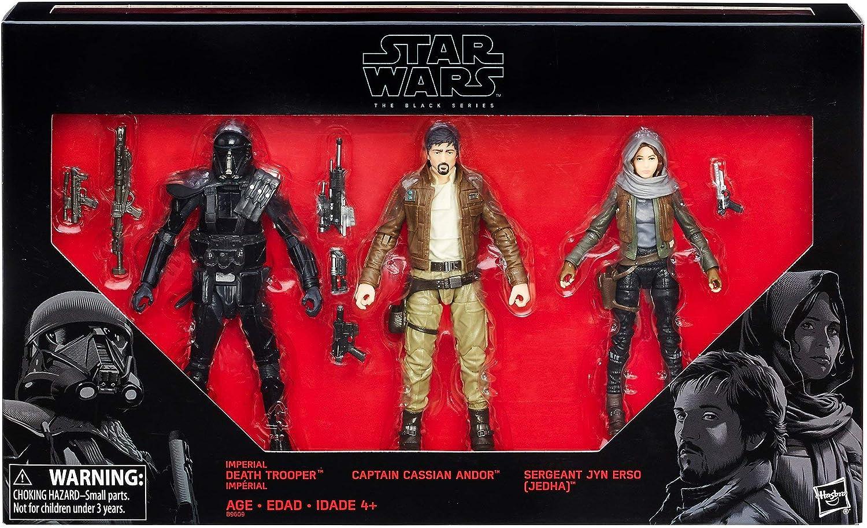 Hasbro Star Wars Rogue una Serie Negro 6 Figura 3 Pack Exclusivo: Amazon.es: Juguetes y juegos
