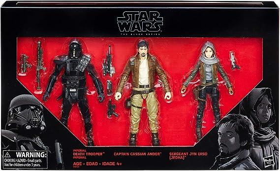 Hasbro Star Wars Rogue una Serie Negro 6 Figura 3 Pack Exclusivo ...