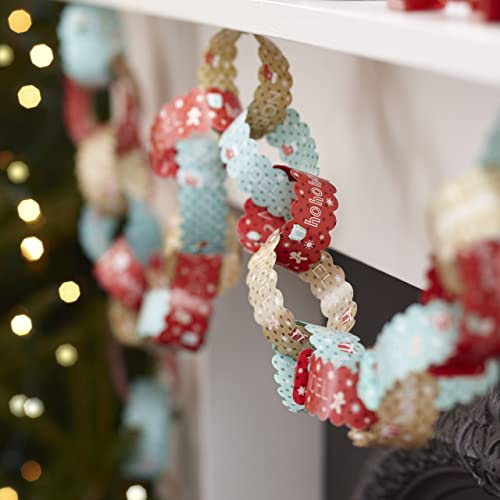 ginger ray vintage christmas paper chain decorations vintage noel - Old Fashioned Paper Christmas Decorations