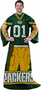 """Officially Licensed NFL Full Body """"Player"""" Adult Comfy Throw, 48"""" x 71"""", Multi Color"""