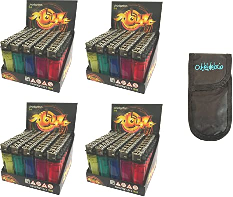 Outletdelocio. Pack 200 mecheros desechables. Colores surtidos ...
