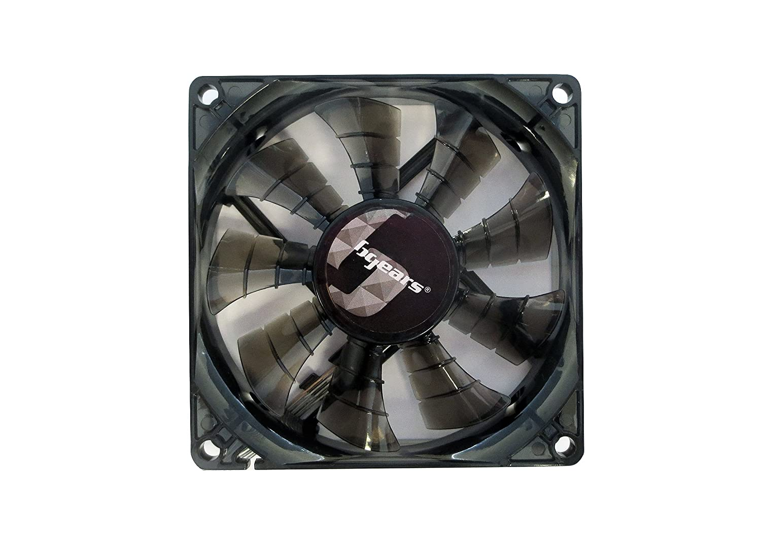 Bgears 90 mm 2 Ball Bearing High Speed High Performance Fan, Translucent Black (b-PWM 90 Black 2ball)