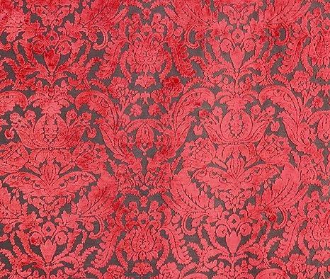 Amazon Com 54 Wide Prague Chianti Damask Velvet Upholstery Fabric