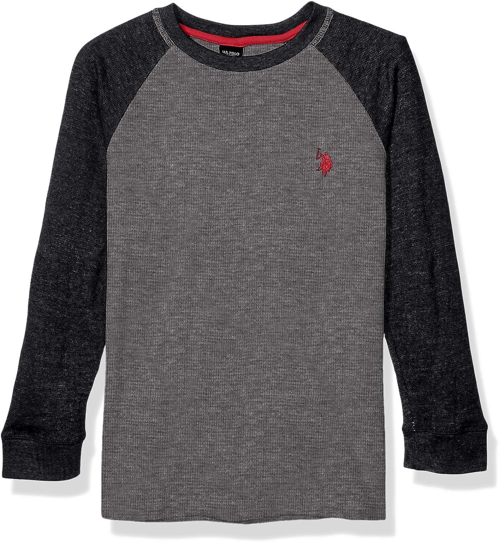 Polo Assn U.S Boys Long Sleeve Raglan Thermal Shirt