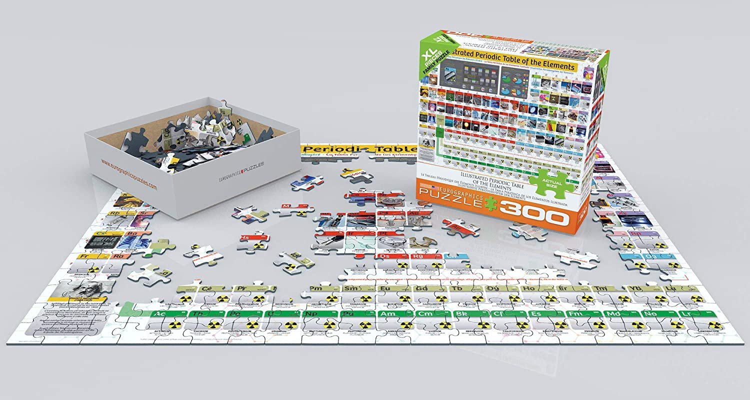 EuroGraphics EURHR Illustrated Periodic Table of The Elements 300Piece Puzzle 300Piece Jigsaw Puzzle