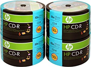 HP 200-disc CD-R 52X 80MIN/700MB Logo Top in Eco Spindle (4 x 50pk)