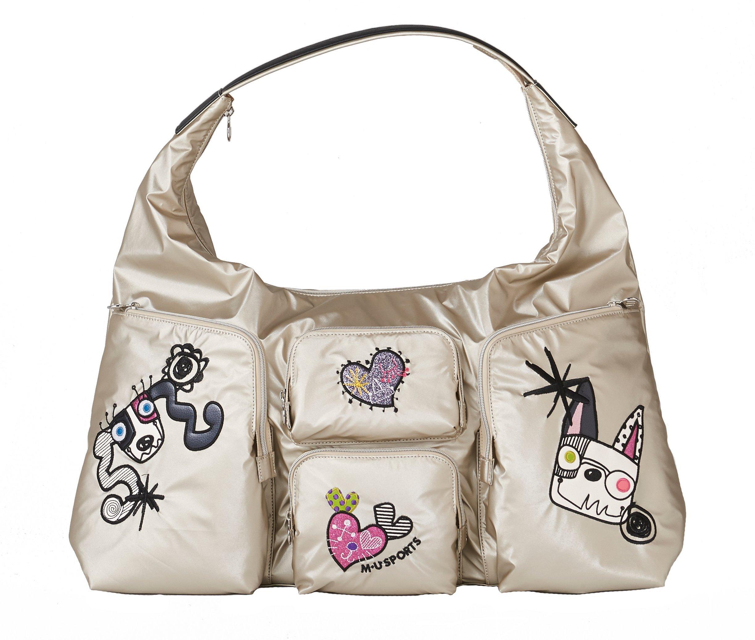 MU Sports Ladies Boston Bag, Gold, 703Q1200