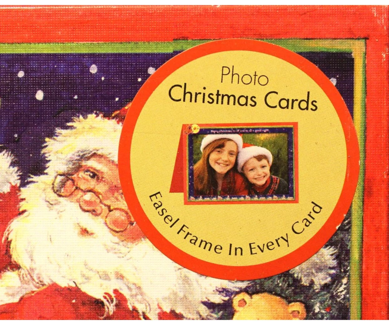 Amazon.com: Flying Santa Boxed Photo Christmas Cards - Betty ...