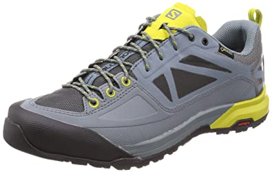 3f4321cb351 Salomon Men's X Alp Spry GTX Mountain Boots Stormy Weather/Magnet /  Citronelle 7.5