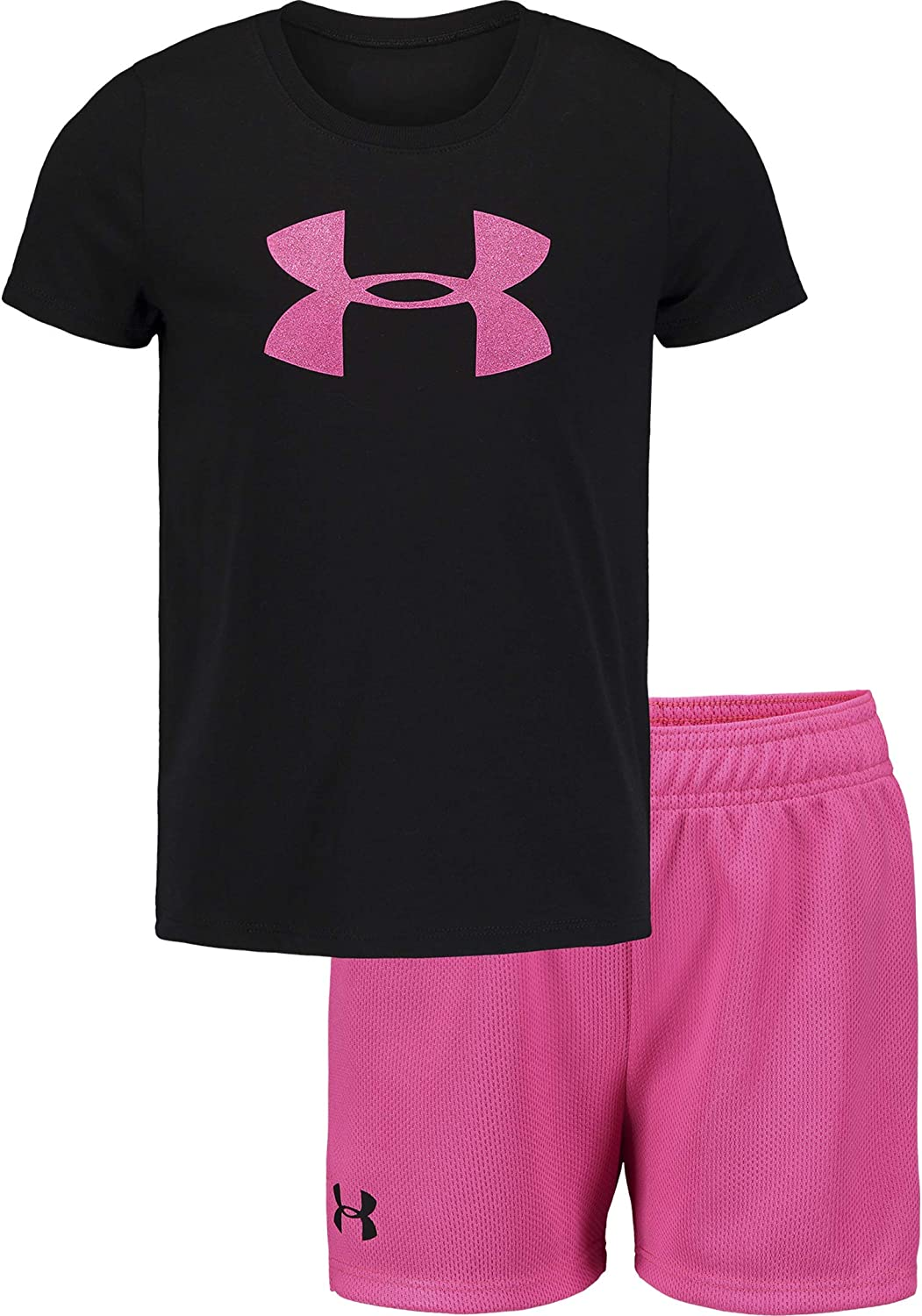 Under Armour Girls Ua Big Logo Ss Set