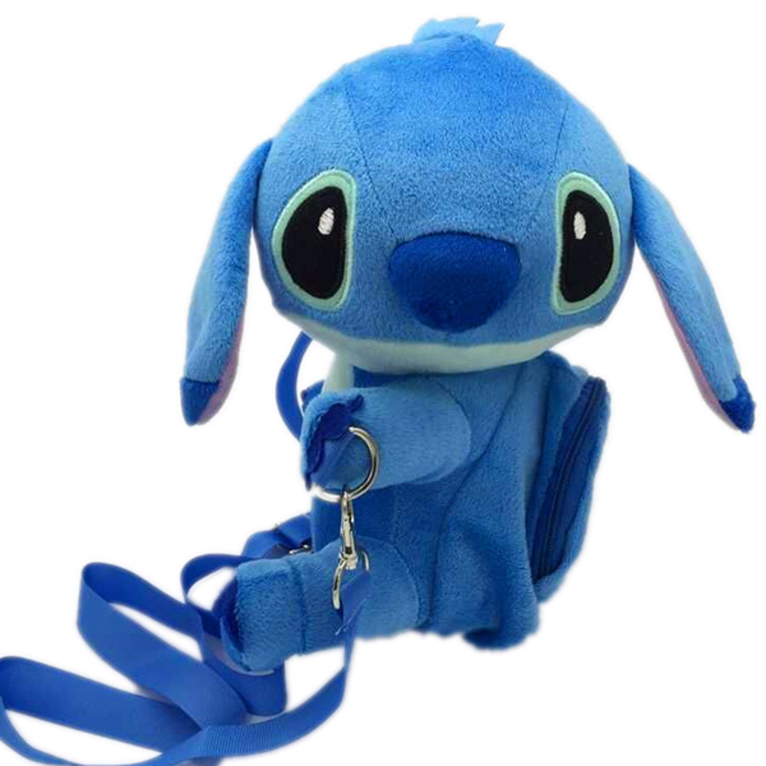 Disney Stitch Set . Soft Plush Crossbody/Shoulder Mini Bag with Small Pocket + Stitch Watch For kids. H 9''. Limited Edition. by LILO & STITCH (Image #6)