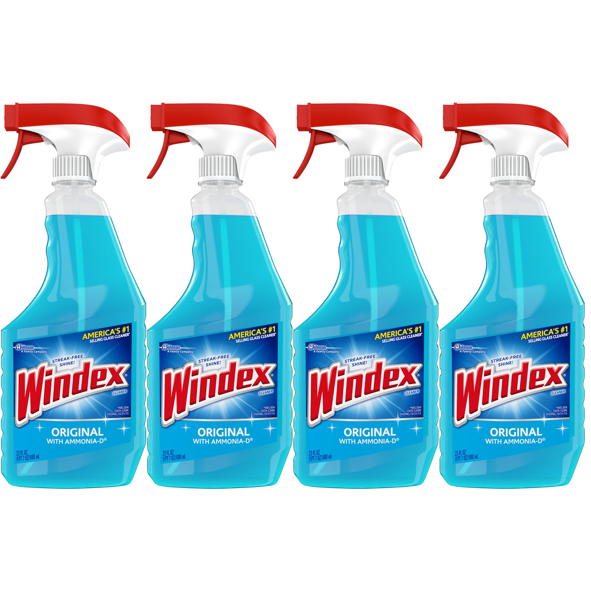 Windex Glass & Multi Surface Cleaner, 23 oz, 4-Pack