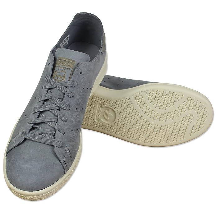 Détails sur Adidas Originals Stan Smith Op Clean Baskets en Cuir S79465 Gris Chaussures
