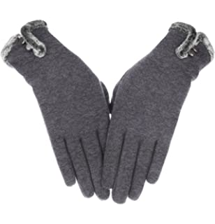 43f7eb1ab Knolee Women's NEW Fashion Touch Screen Warm Winter Thick Gloves With Button