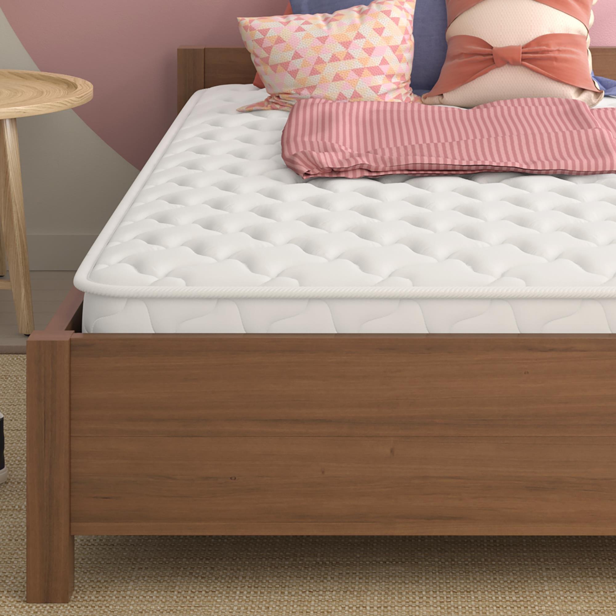 Signature Sleep Mattress, Twin Mattress, 6 Inch Hybrid Coil Mattress, White, Twin
