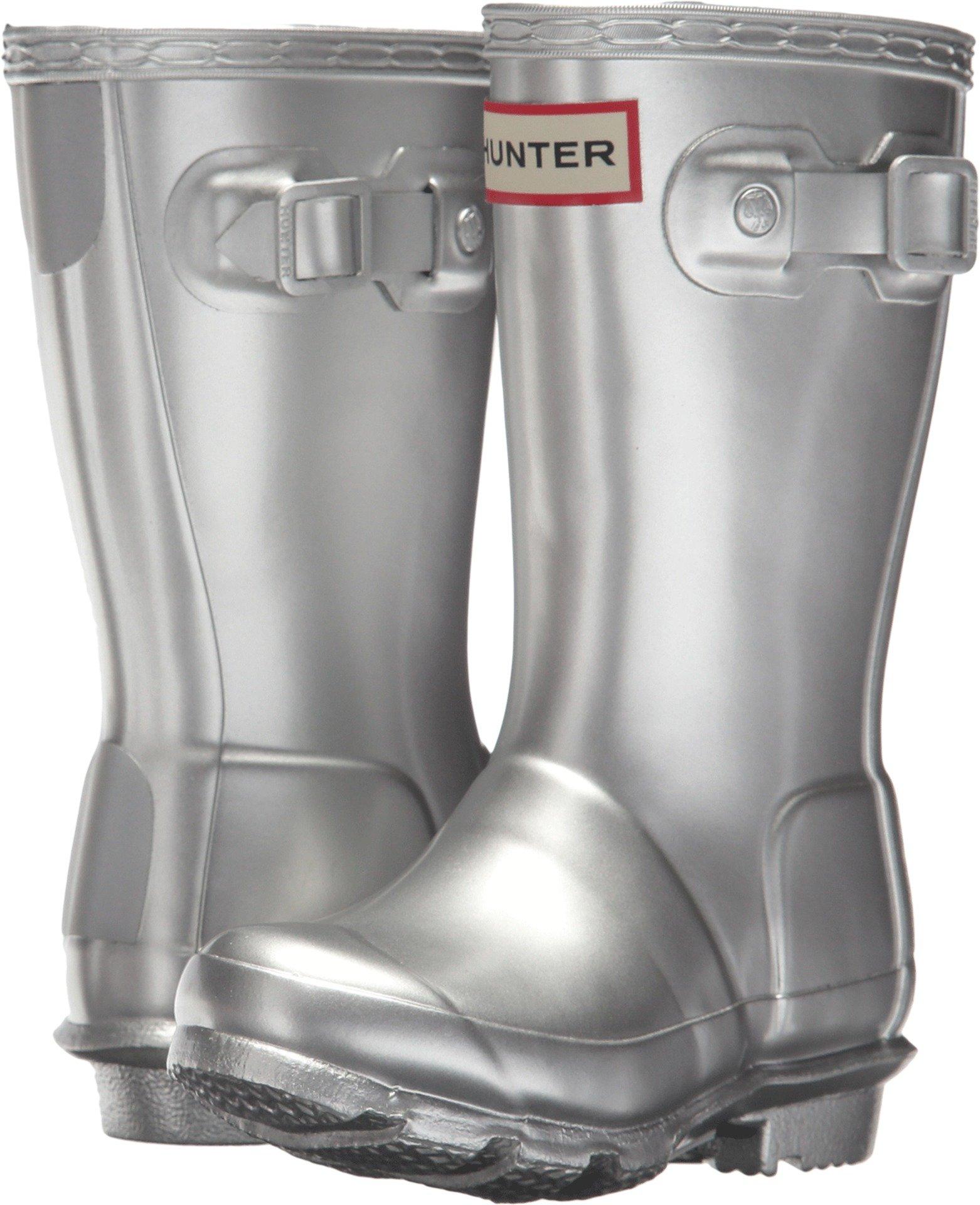 Hunter Kids Unisex Original Metallic Rain Boot (Toddler/Little Kid) Silver 9-10 M US Toddler