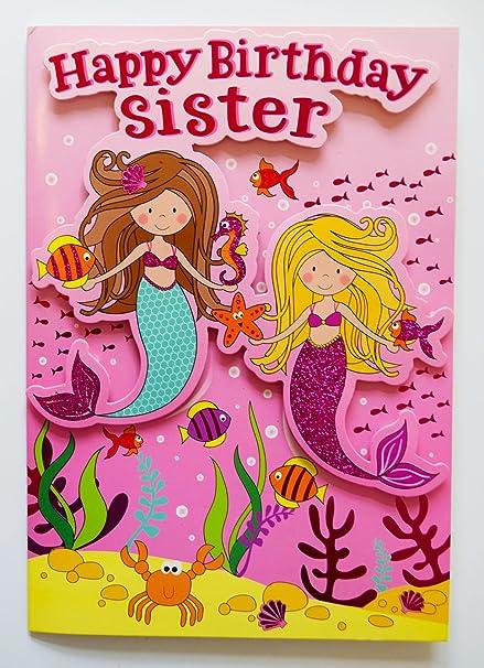 Tarjeta de felicitación de cumpleaños a hermana, diseño de ...