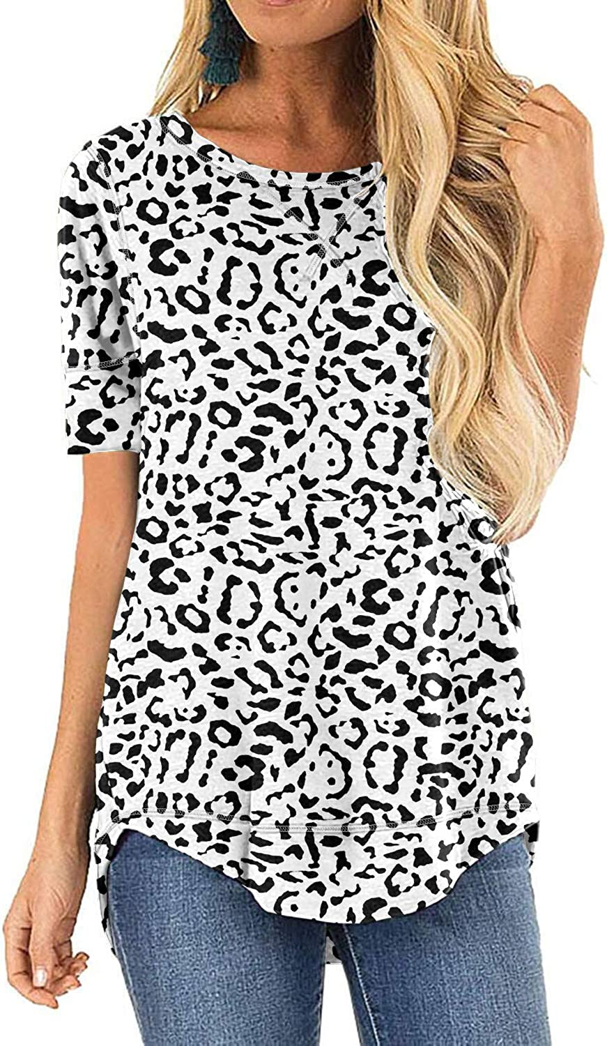 HIYIYEZI Fall Tops for Women Long Sleeve Side Split Casual Loose Tunic Top at  Women's Clothing store