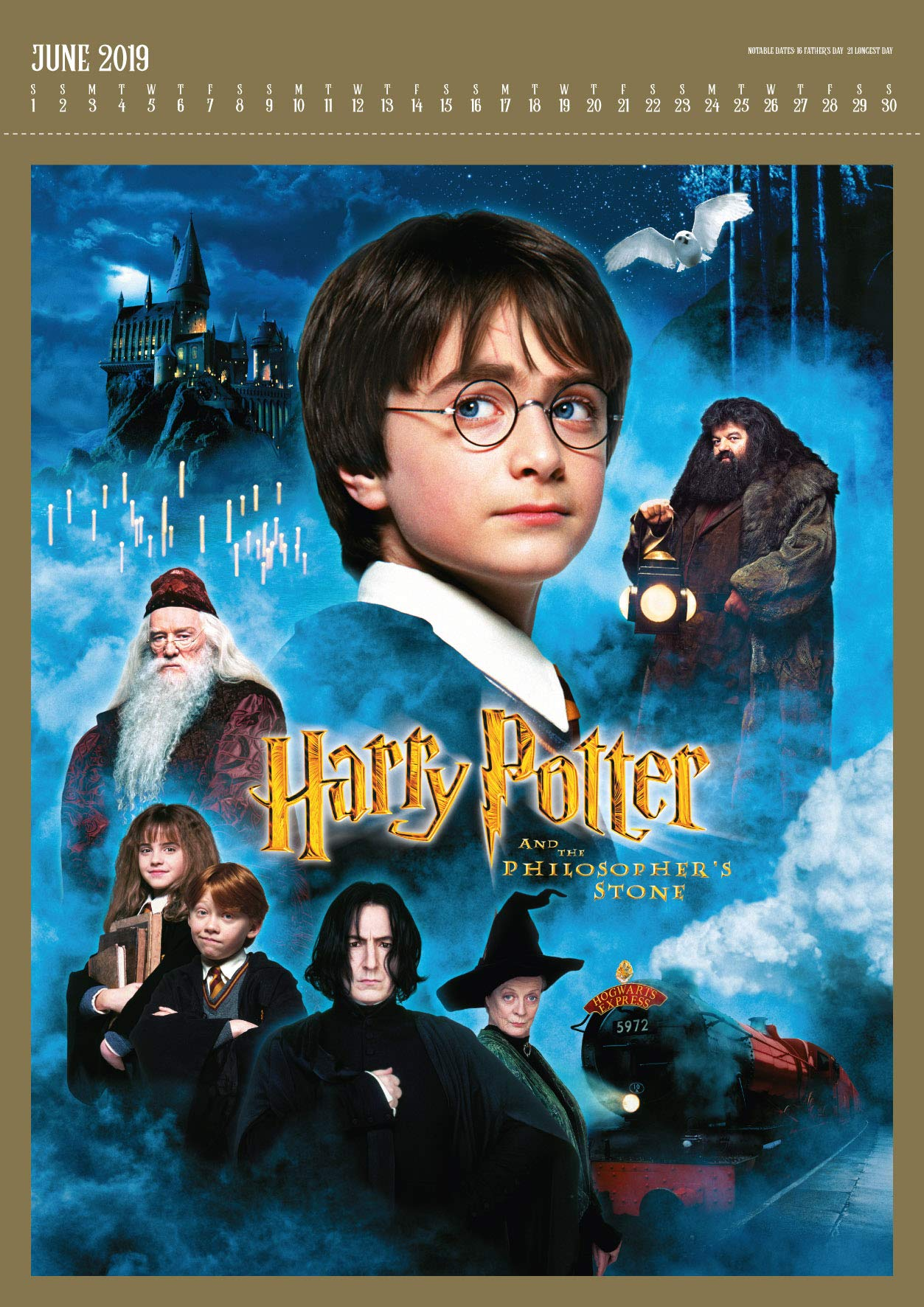 Harry Potter Deluxe Official 2019 Calendar A3 with Presentation Envelope Format Calendar Danilo Promotions Limited 1785498606