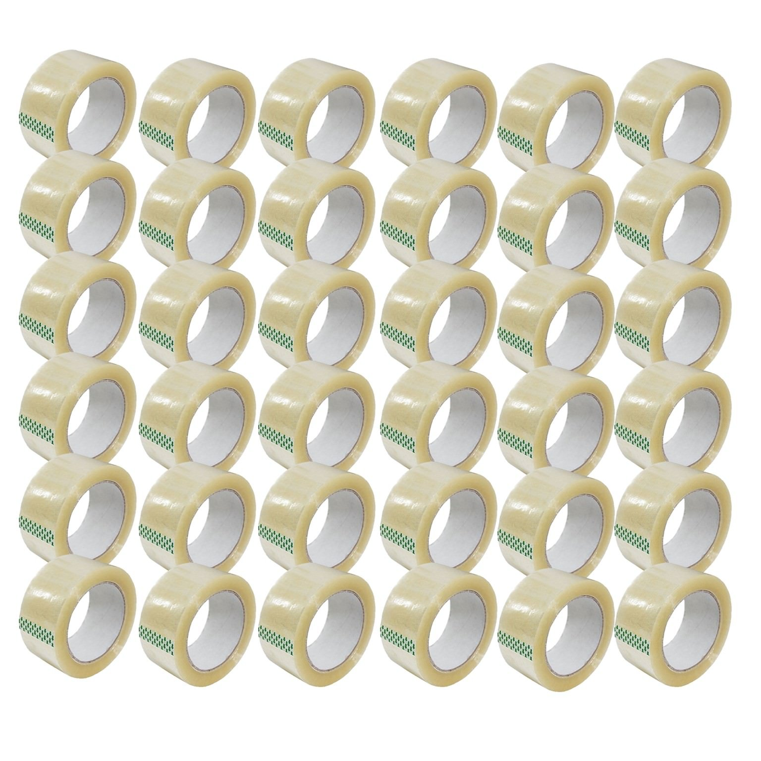 Clear Packing Tape 2'' x 110 Yards Strong Heavy Duty Sealing Adhesive Tapes for Moving Packaging Shipping Office and Storage 36 Rolls