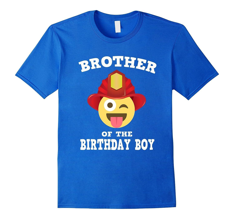 Emoji Brother Of Birthday Boy Fireman T Shirt Wink Out TH