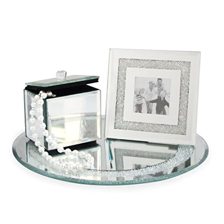 Emenest Mirrored Vanity Set - Jewelry Box, Picture Frame, and Tray ...