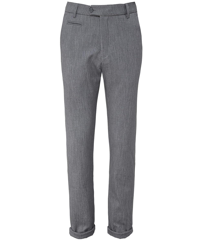 TALLA 34W. Les Deux Hombres Estiramiento Slim Fit como Pantalones de Traje Marina De Guerra