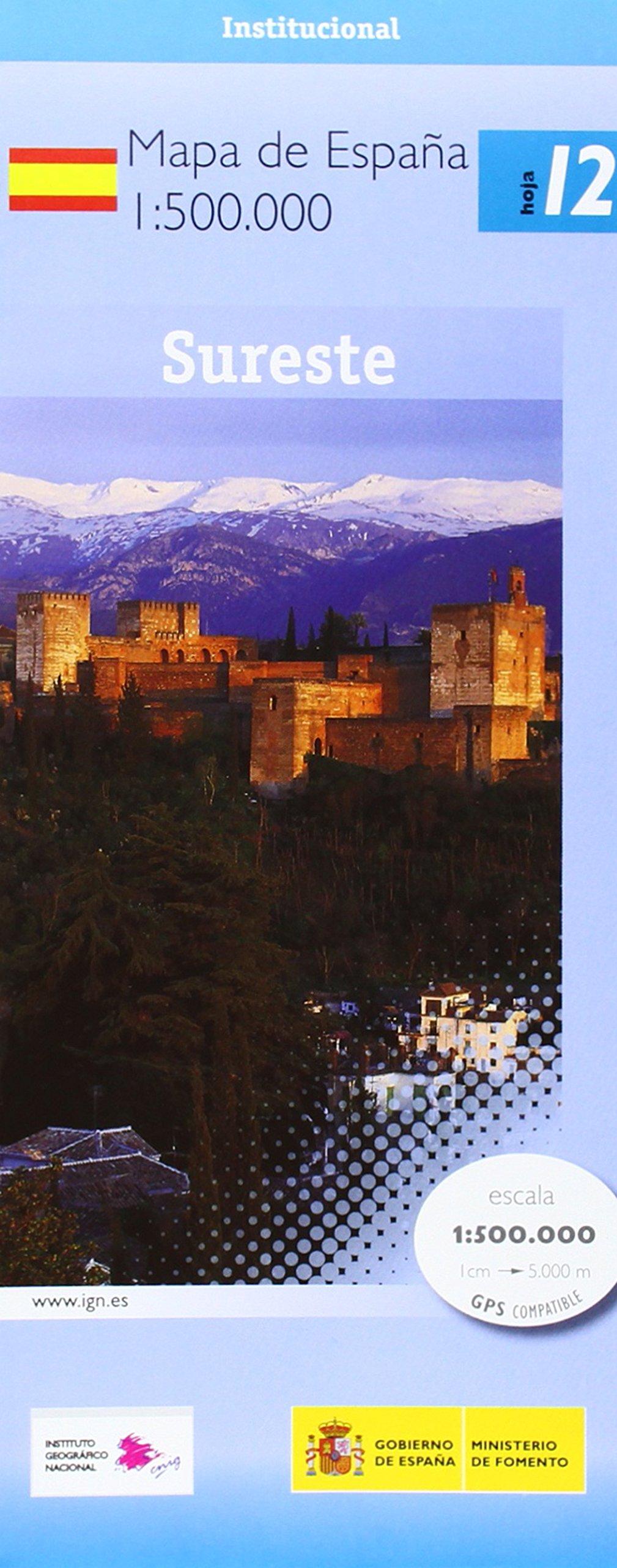 12 España sureste. Mapa de carreteras. Escala 1:500.000. CNIG.: Amazon.es: VV.AA.: Libros