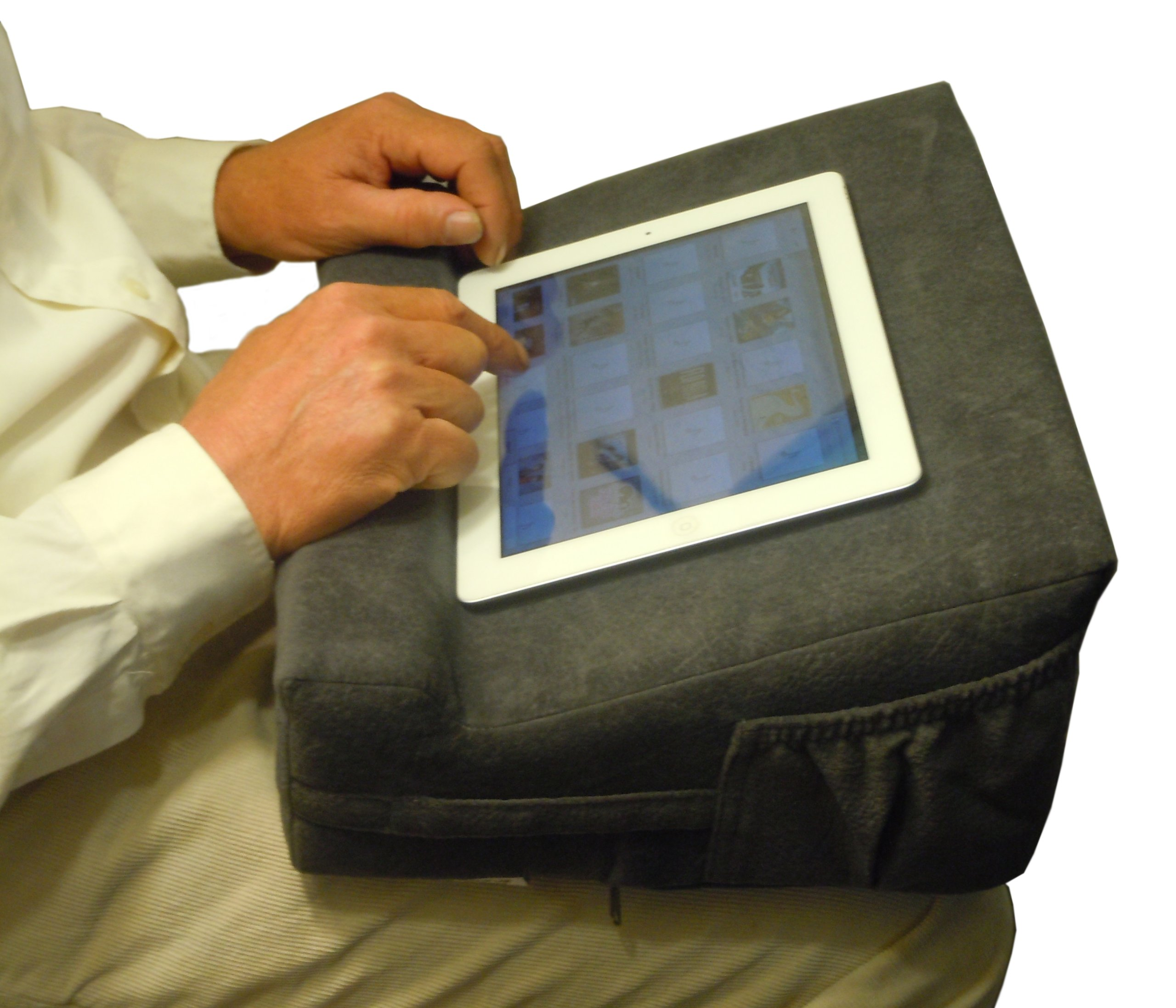Lap Top Easel. Portable Mobile Ergonomic Laptop Computer Desk & Desktop Book Stand with Orthopedic Wrist Support. by Tip Pedic. (Image #3)