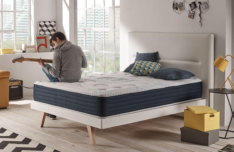 Naturalex Memory Foam Mattress European Size 70x190cm - Comfort Spa Model - 26cm Deep Mattress - Dual Season Reversible 7 Comfort Zones
