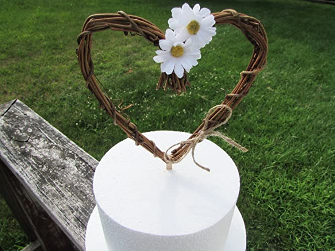 Amazon Daisy Cake Topper Grapevine Twig Heart Mini Wreath