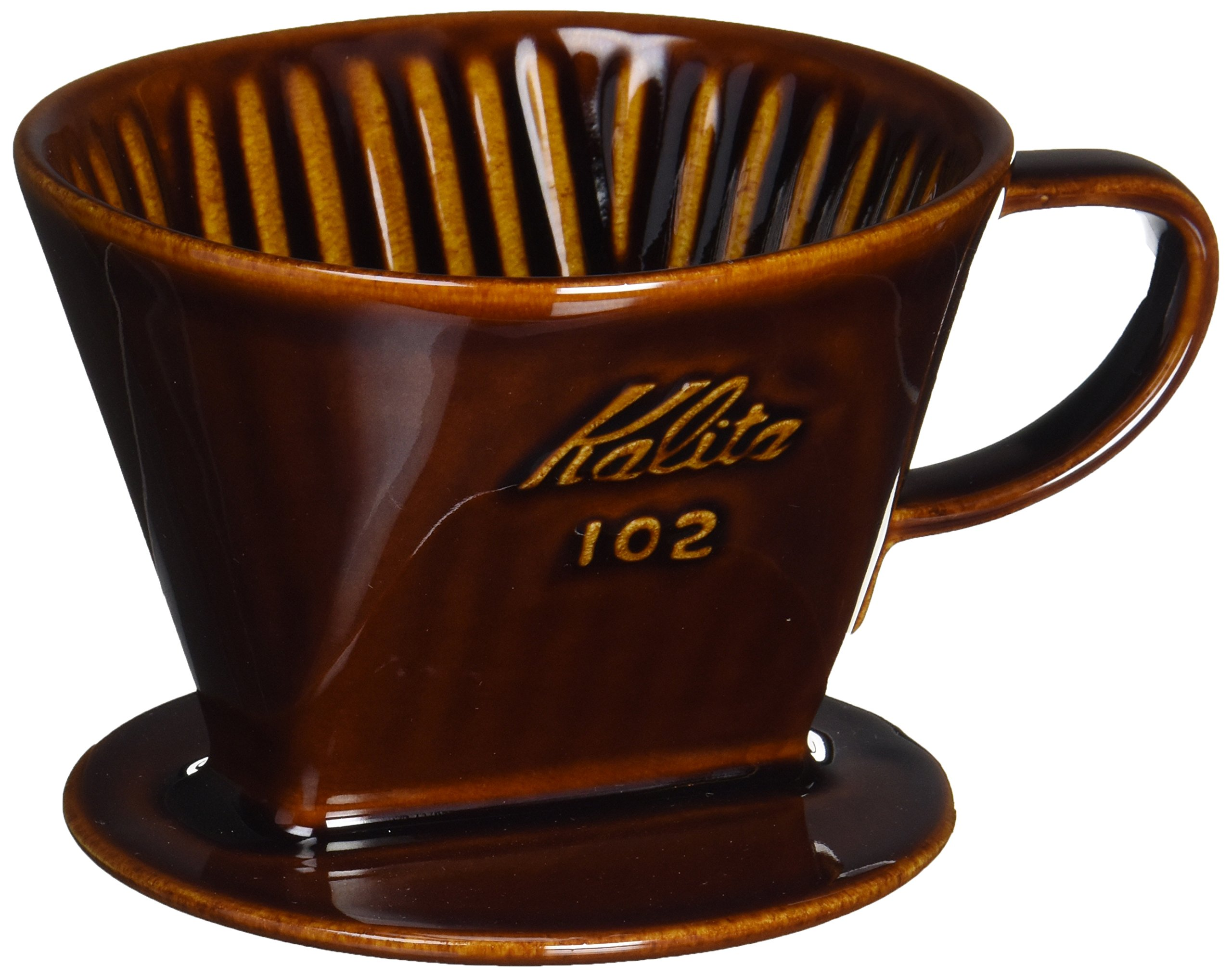 Kalita Ceramic Coffee Dripper (Brown) for 2-4 Cups by Kalita